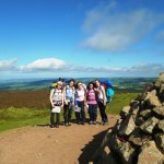 The group in good spirits at Dunkery Beacon