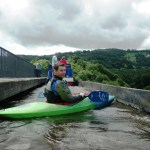 Kayak journey - crossing the aqueduct