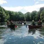 A bit of canoe instruction like