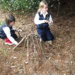 Shelter building in progress