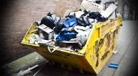 Garbage dumpster open dump
