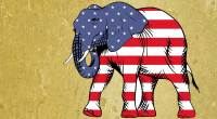Republican elephant cartoon