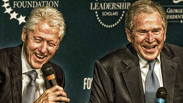 Clinton Vs. Bush
