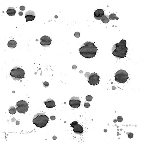 Free Adobe Photoshop grunge splatter brush set.
