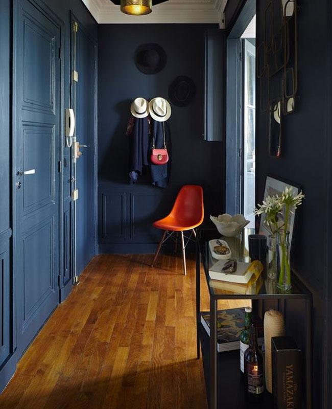 bleu pour la deco du couloir