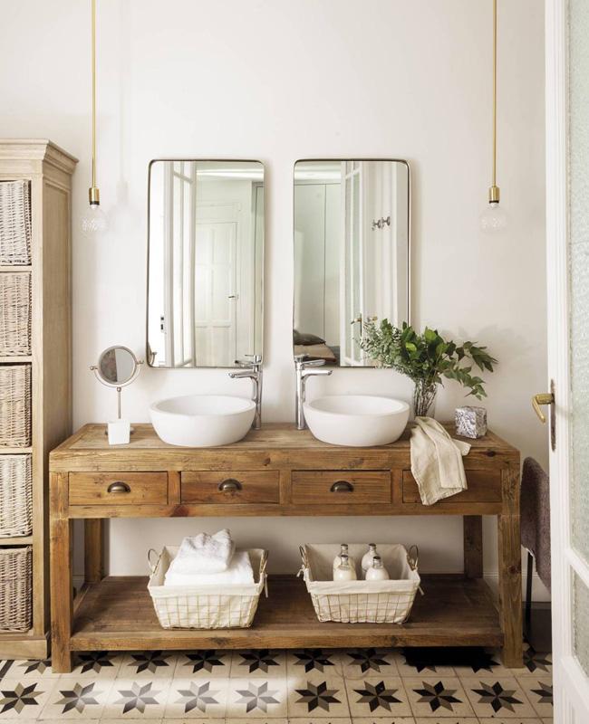 Une Deco En Blanc Et Beige Dans La Salle De Bain My Blog Deco