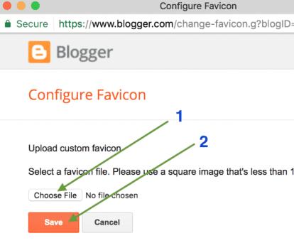 Favicon upload