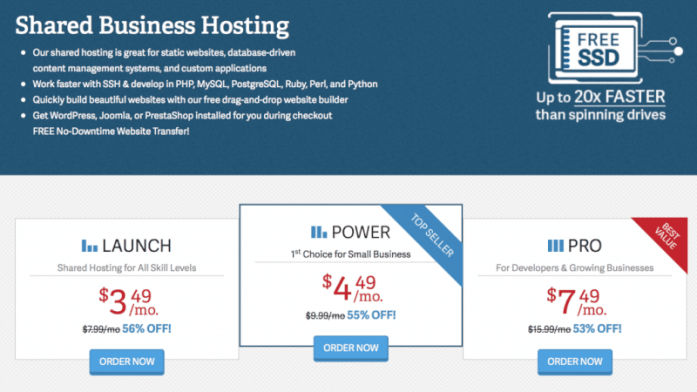 Shared one year hosting