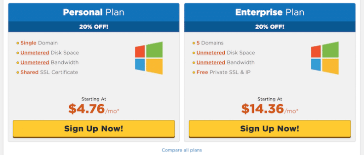 ASP.NET hosting plans