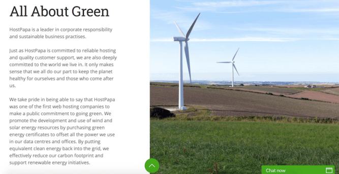 HostPapa green hosting