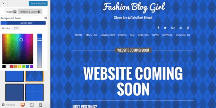 Blog color customization
