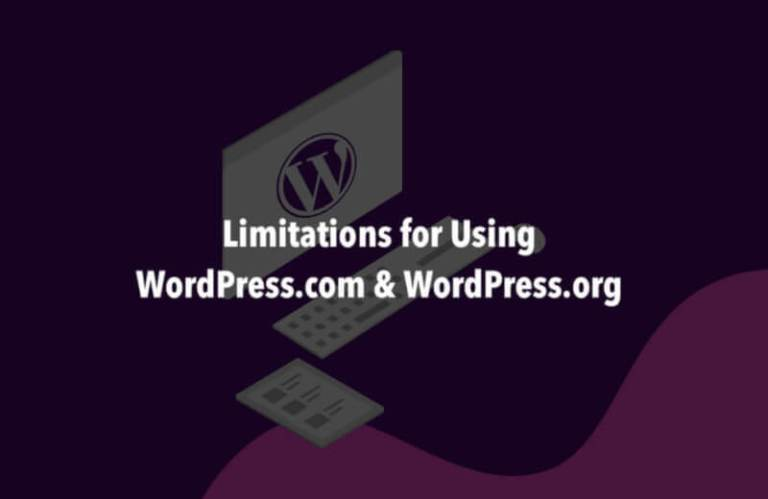 Limitation for Using WordPress