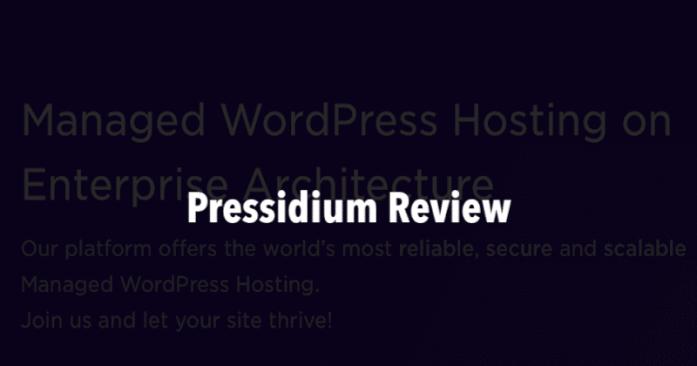 Pressidium hosting review