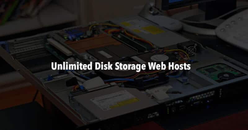 Unlimited disk space web hosting