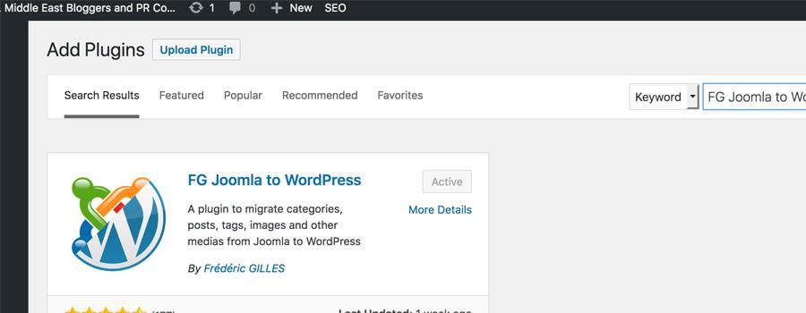 inside article instal plugin1a 1 - How to Migrate Joomla websites to WordPress sites