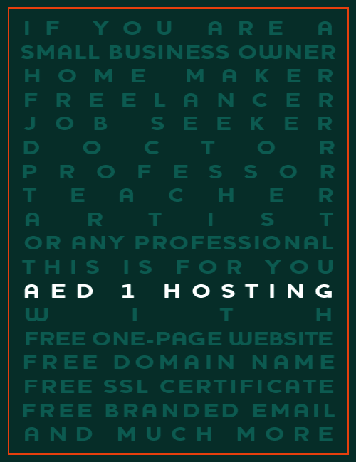 ads aed1 host - Why Your Business Needs a (professional) Website?