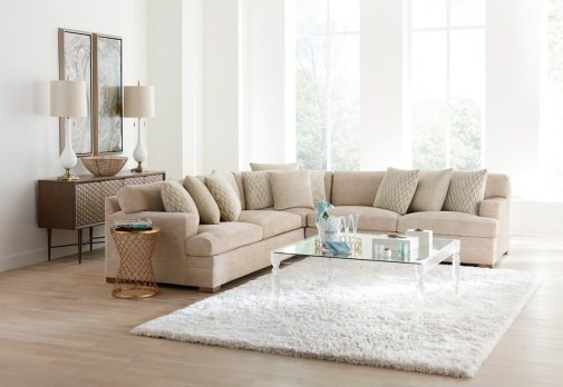 Beige Godfrey Symmetrical Sectional Couch