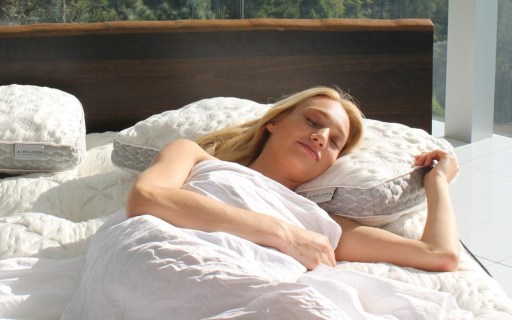 Woman Laying on Cooling Pillow