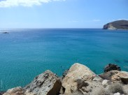 Fira beach - the sea around
