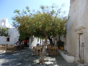 Kritikos tavern, eating under the trees