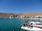 Karavostasis - the port and the beach
