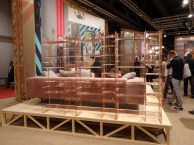 Library by pink plexiglass at Kartell