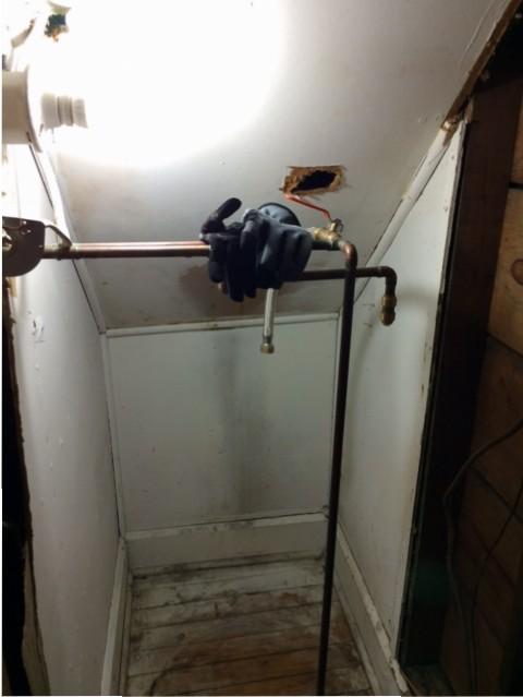water heater uninstalled