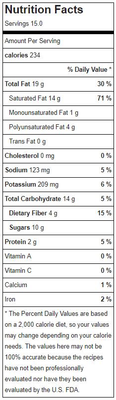 Raw Vegan Samoa Cookies Nutrition Facts