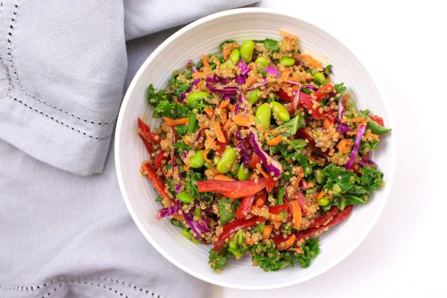 Quinoa Kale Thai Salad