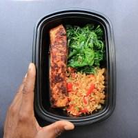 Meal-Prep-Cajun-Salmon-Spinach-Veggies