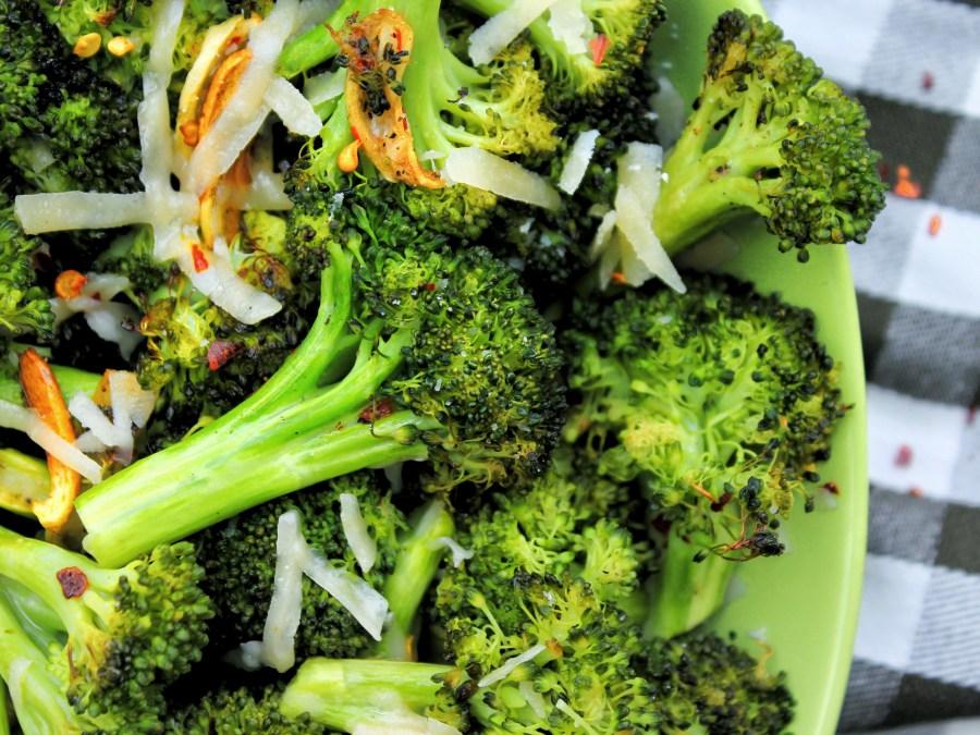 Garlic Roasted Parmesan Broccoli