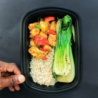 Meal Prep - Bok Choy, Orange Chicken, Brown Rice 2