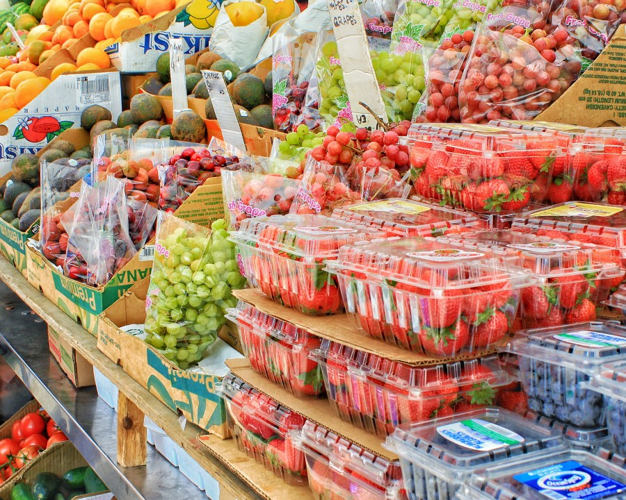 Fruit and Vegetables at Fruit Stand New York - Food Marketing Terms and Words that Do Not Mean Healthy