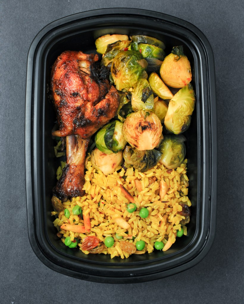 Meal Prep - Yellow Rice, Chicken & Brussels Sprouts