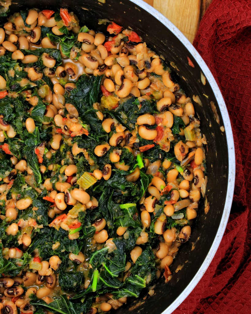 Black-eyed Peas & Kale vegan - My Body My Kitchen