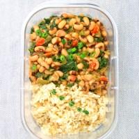 Meal Prep - Black-Eyed Peas & Rice (Vegan Hoppin' John)