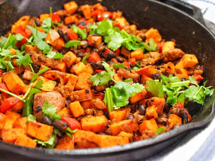 Sweet Potato Turkey Sausage Hash Breakfast My Body My Kitchen Gluten Free