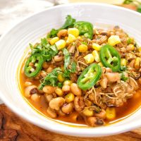 Chicken Black Eyed Pea Chili - My Body My Kitchen Farmer Focus