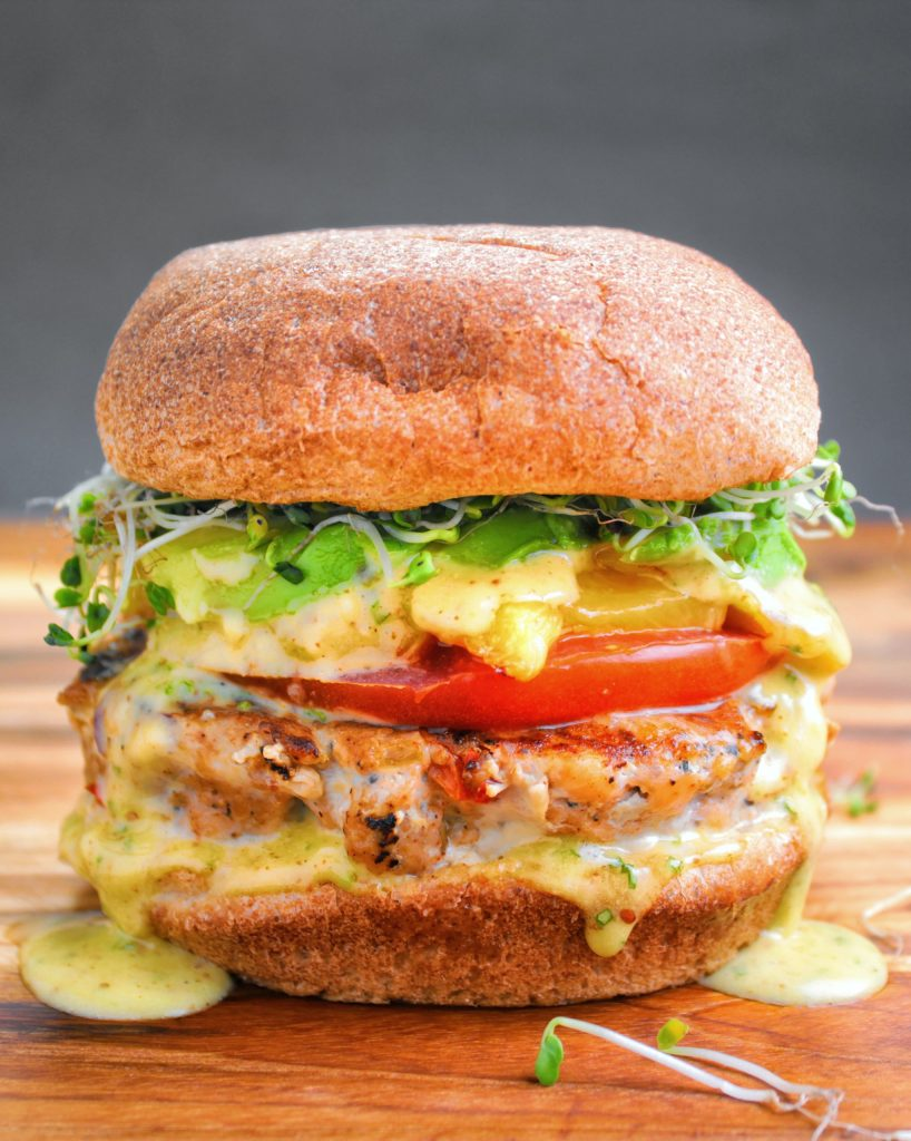 Jerk Salmon Burger and Pineapple  My Body My Kitchen