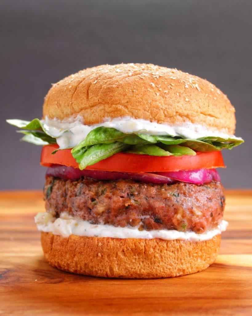 Mint Lamb Burger Tzatziki Sauce  My Body My Kitchen
