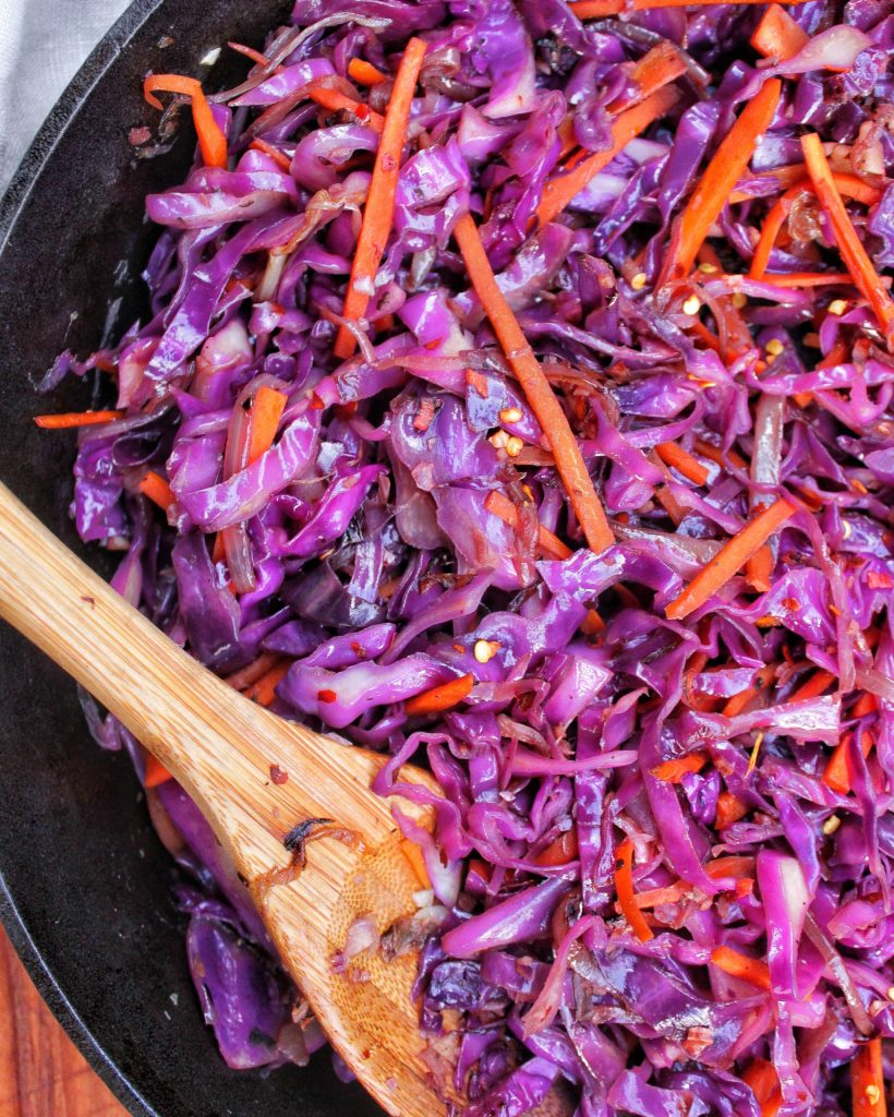 Sauteed Red Cabbage & Carrots My Body My Kitchen