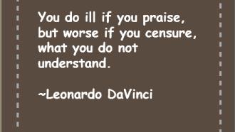 Leonardo DaVinci - Understanding