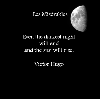 Even the darkest night will end and the sun will rise Page Number