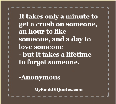 It takes only a minute to get a crush on someone