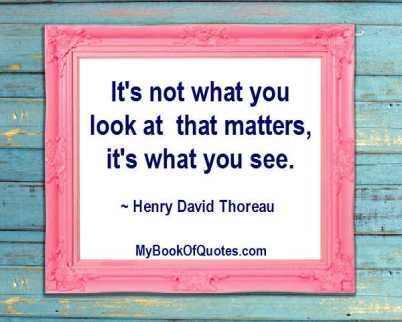 It's not what you look at that matters