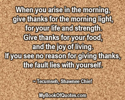 When You Arise In The Morning Mybookofquotescom