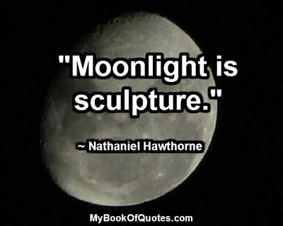 """Moonlight is sculpture."" ~ Nathaniel Hawthorne"