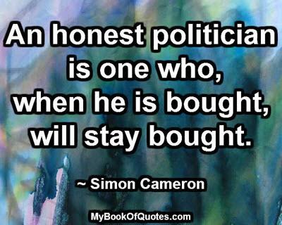 An honest politician