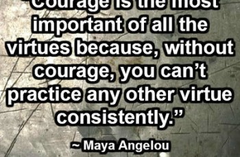 Courage is the most important of all the virtues