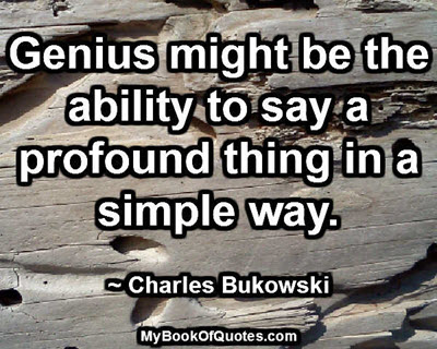 Genius might be the ability